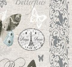 Бумага декоративная 70 см*100 см, голубые бабочки