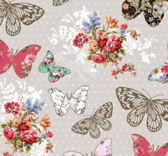 Бумага декоративная 70 см*100 см, бабочки с узорами