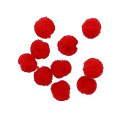 Помпоны красные ( 50 грамм)