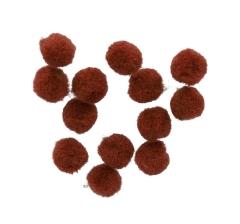 Помпоны коричневые (1000 шт)