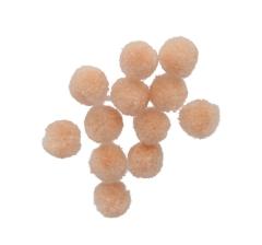 Помпоны персиковые ( 50 грамм)