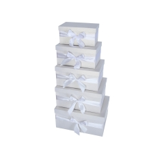 Комплект из 5 коробок подарочных h 18cm l 36cm d 28cmPUD178