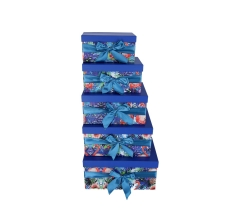 Комплект из 5 коробок подарочных h 18cm l 37cm d 29cmPUD210