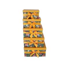 Комплект из 5 коробок подарочных h 18cm l 37cm d 29cm PUD212
