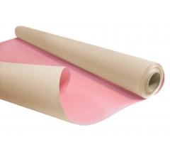 Бумага Kraft Duo 79 см/ 10 м, кремовая с розовым