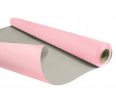 Бумага Kraft Duo 79 см/ 10 м, розово-серая