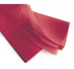 Бумага тишью 75*50 см, 24 листа, вишневый