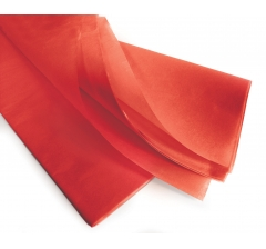 Бумага тишью 75*50 см, 24 листа, скарлет