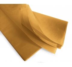 Бумага тишью 75*50 см, 24 листа, горчичный