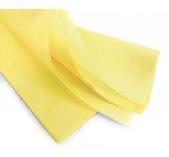 Бумага тишью 75*50 см, 24 листа, светло-желтая
