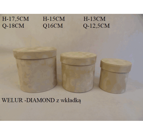 Коробка декоративная бархатная, набор из 3-х W2044А