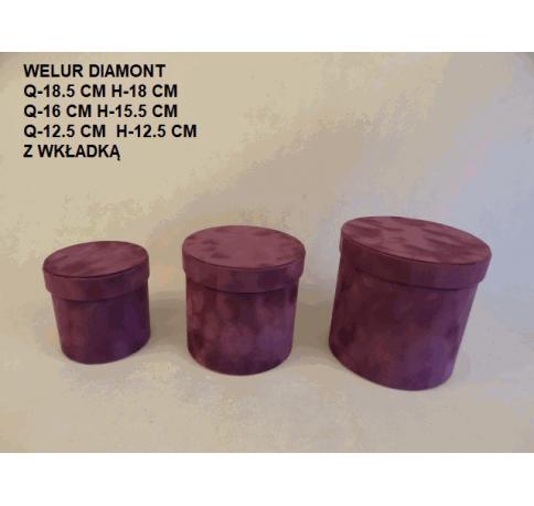 Коробка декоративная бархатная, набор из 3-х W2045А