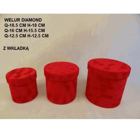 Коробка декоративная бархатная, набор из 3-х W2046А