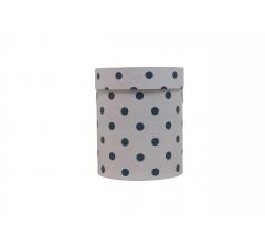 Коробка картонная круглая с рисунком 150*180 дизайн 71