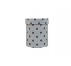 Коробка картонная круглая с рисунком 150*180 дизайн 81