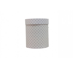 Коробка картонная круглая с рисунком 150*180 дизайн 96