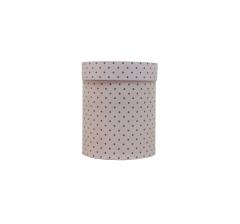 Коробка картонная круглая с рисунком 150*180 дизайн 107