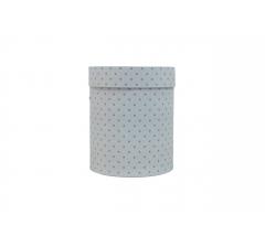 Коробка картонная круглая с рисунком 150*180 дизайн 110