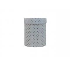 Коробка картонная круглая с рисунком 150*180 дизайн 111