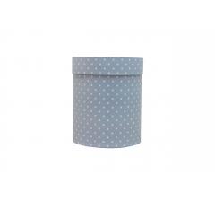 Коробка картонная круглая с рисунком 150*180 дизайн 114
