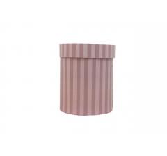 Коробка картонная круглая с рисунком 150*180 дизайн 124