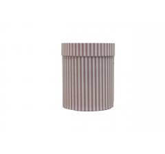 Коробка картонная круглая с рисунком 150*180 дизайн 125