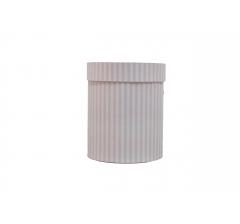 Коробка картонная круглая с рисунком 150*180 дизайн 127