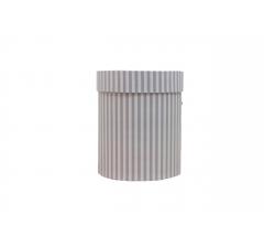 Коробка картонная круглая с рисунком 150*180 дизайн 128