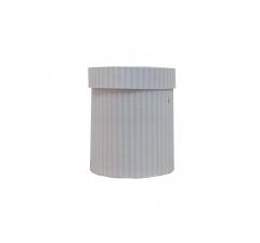 Коробка картонная круглая с рисунком 150*180 дизайн 130