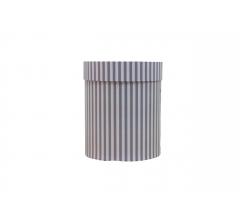 Коробка картонная круглая с рисунком 150*180 дизайн 131