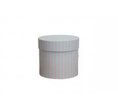 Коробка для цветов цилиндр, d-120, h-110, дизайн 84