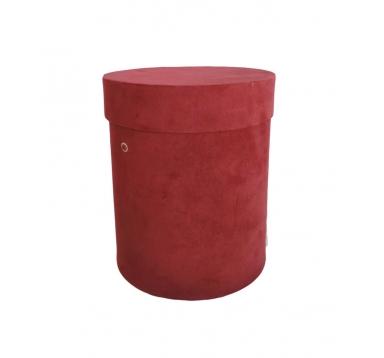 Коробка бархатная, d-150, h-180, красная