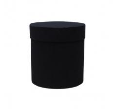 Коробка бархатная, d-110, h-120 мм, черная