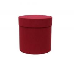Коробка бархатная, d-110, h-120 мм, красная