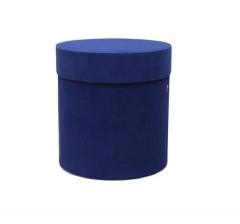 Коробка бархатная, d-110, h-120 мм, синяя