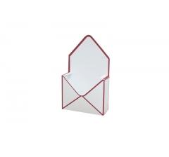 Коробка 170*140*60 мм, белая с красным