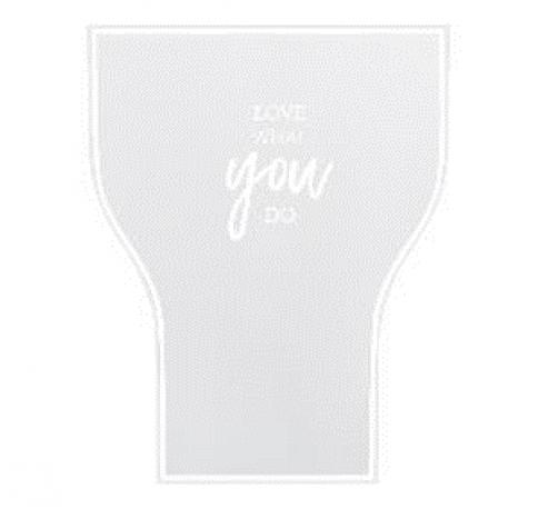 Пленка матовая корейская  50 см/ 10 м, белая