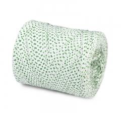 Рафия искусственная 200 м, белая в зеленый горох