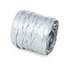 Рафия искусственная 200 м, серебряная