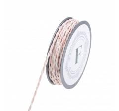 Шнур канатный 10 м, розово-белый