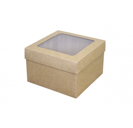 Крафт коробки с окном